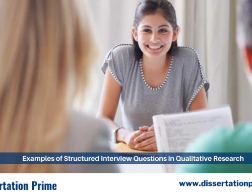 Examples of Structured Interview Questions in Qualitative Research